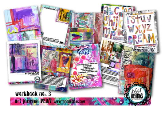 art.journal.PLAY colorful PDF workbooks by traci bautista