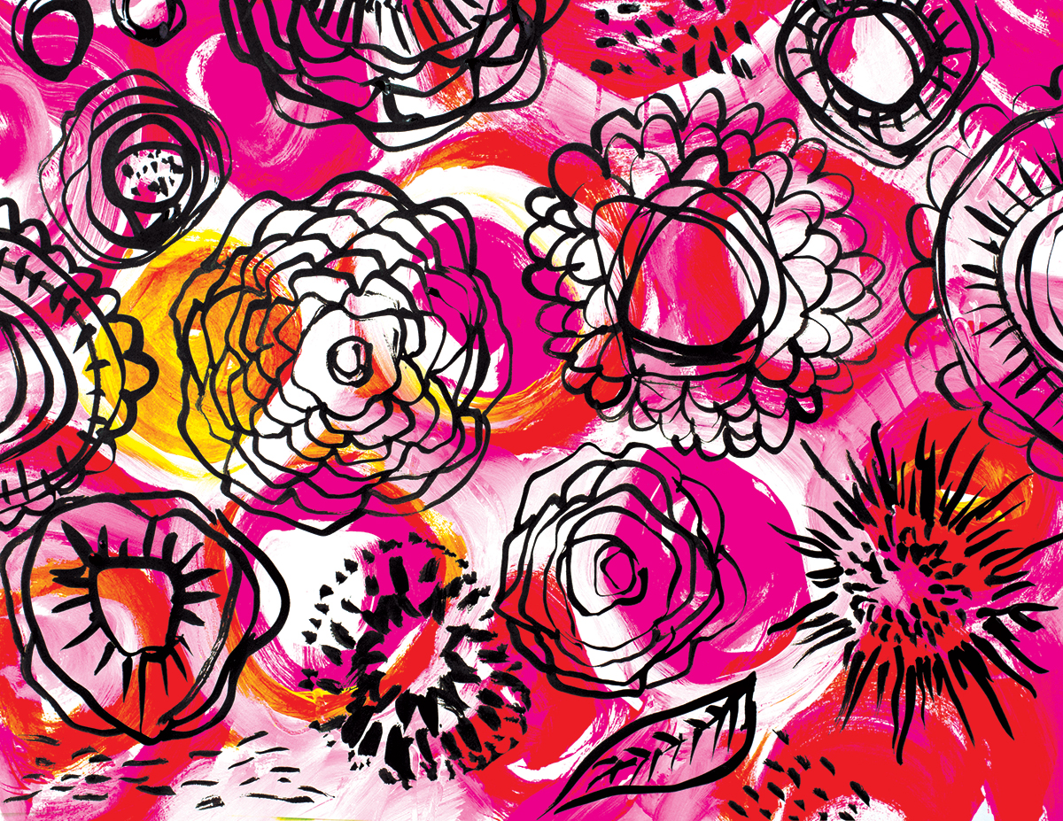 floral pattern by traci bautista