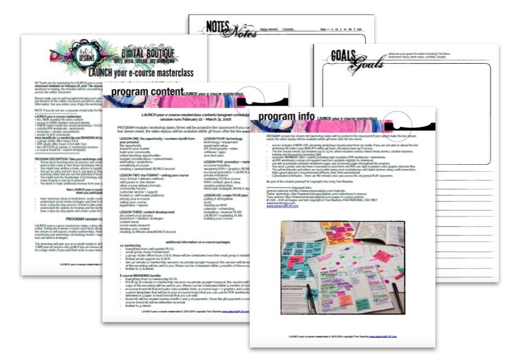 LAUNCH your e-course confirmation PDF