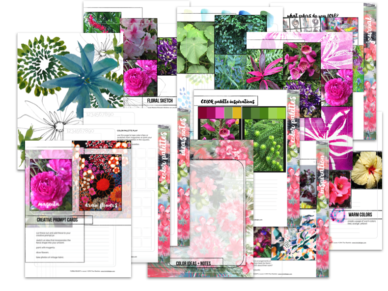FLORAL DELIGHT session two PDF workbook preview by traci bautista
